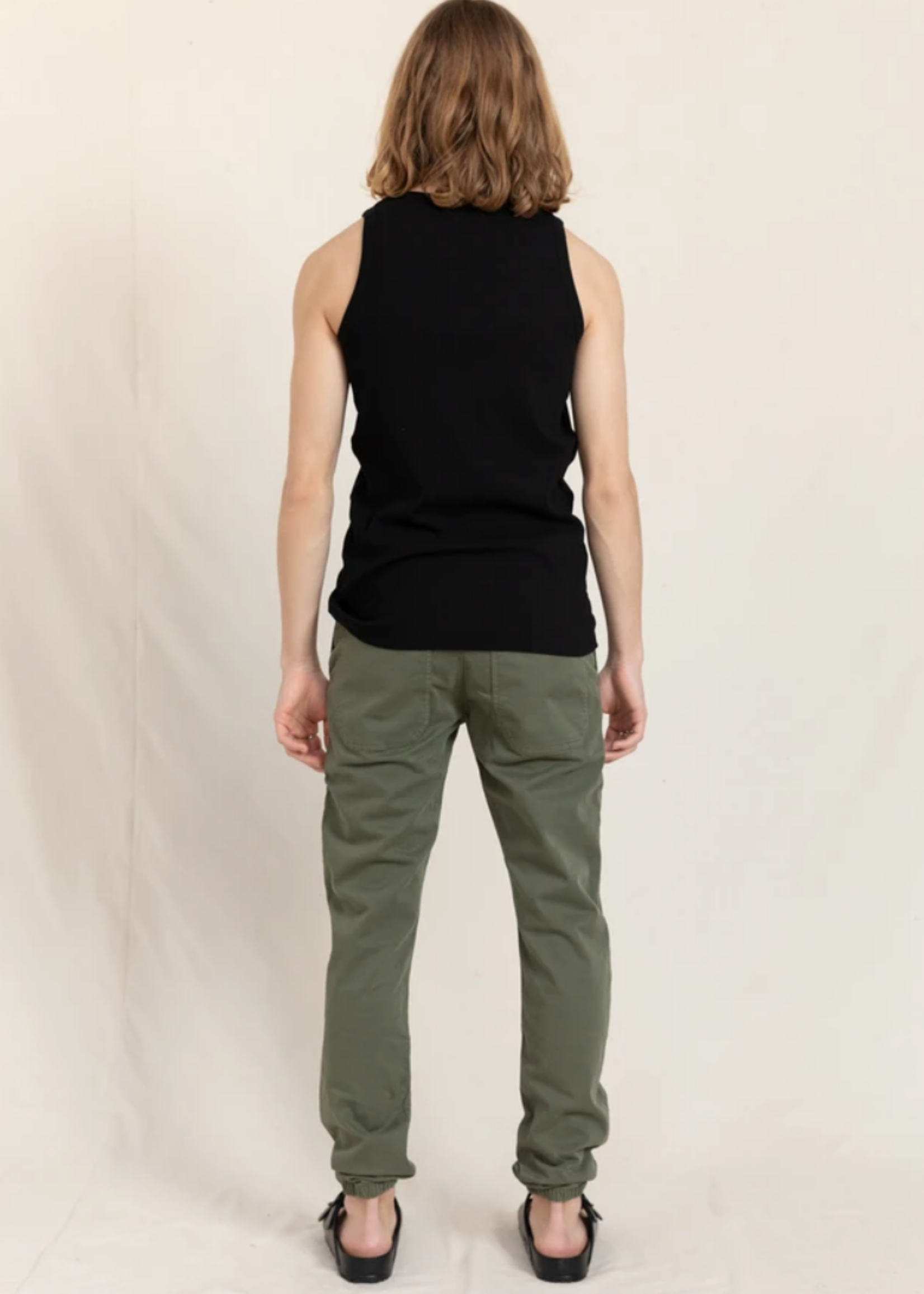 FINGER IN THE NOSE SKATER City Khaki - Elasticed Bottom Chino Fit Pants