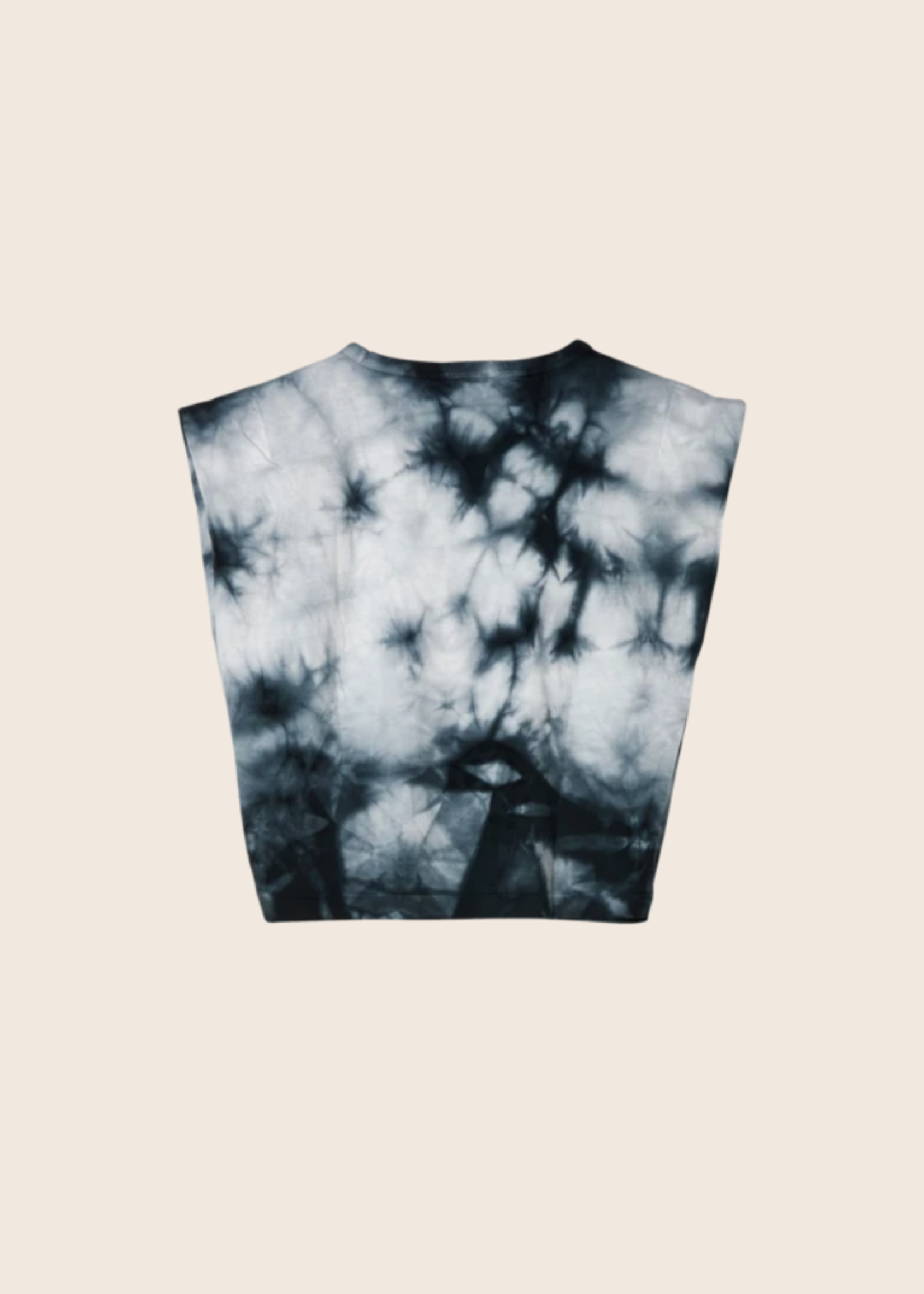 FINGER IN THE NOSE HALEY Soft Black Tie & Dye - Sleeveless T Shirt