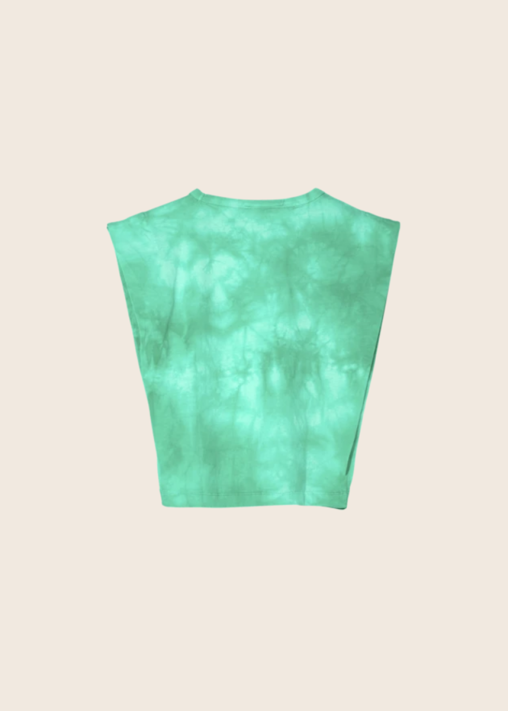 FINGER IN THE NOSE HALEY Milky Mint Tie & Dye - Sleeveless T Shirt