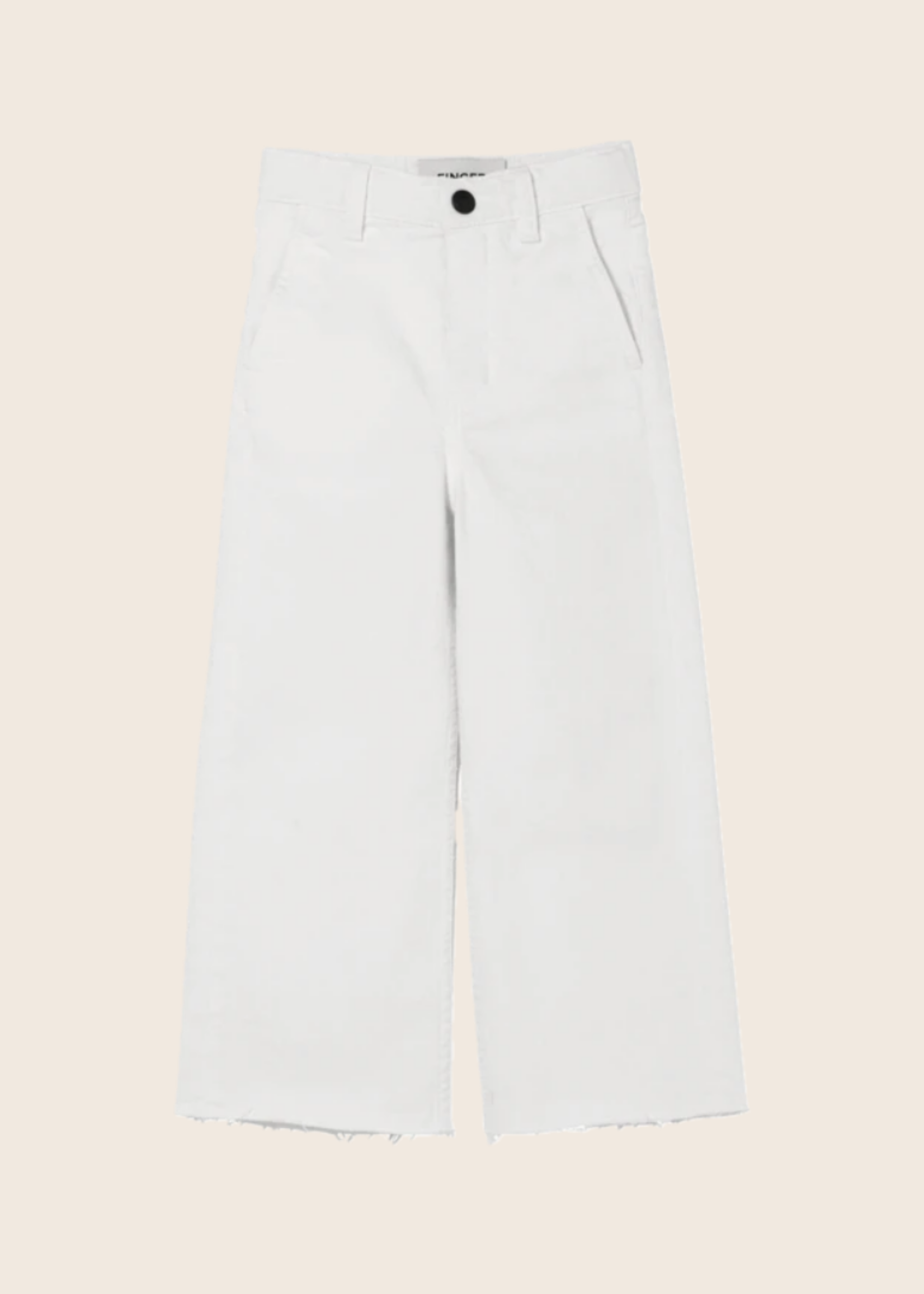 FINGER IN THE NOSE CHARLIE White - Loose Fit Cropped Jeans