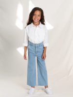 FINGER IN THE NOSE CHARLIE Bleached Blue - Loose Fit Cropped Jeans 8