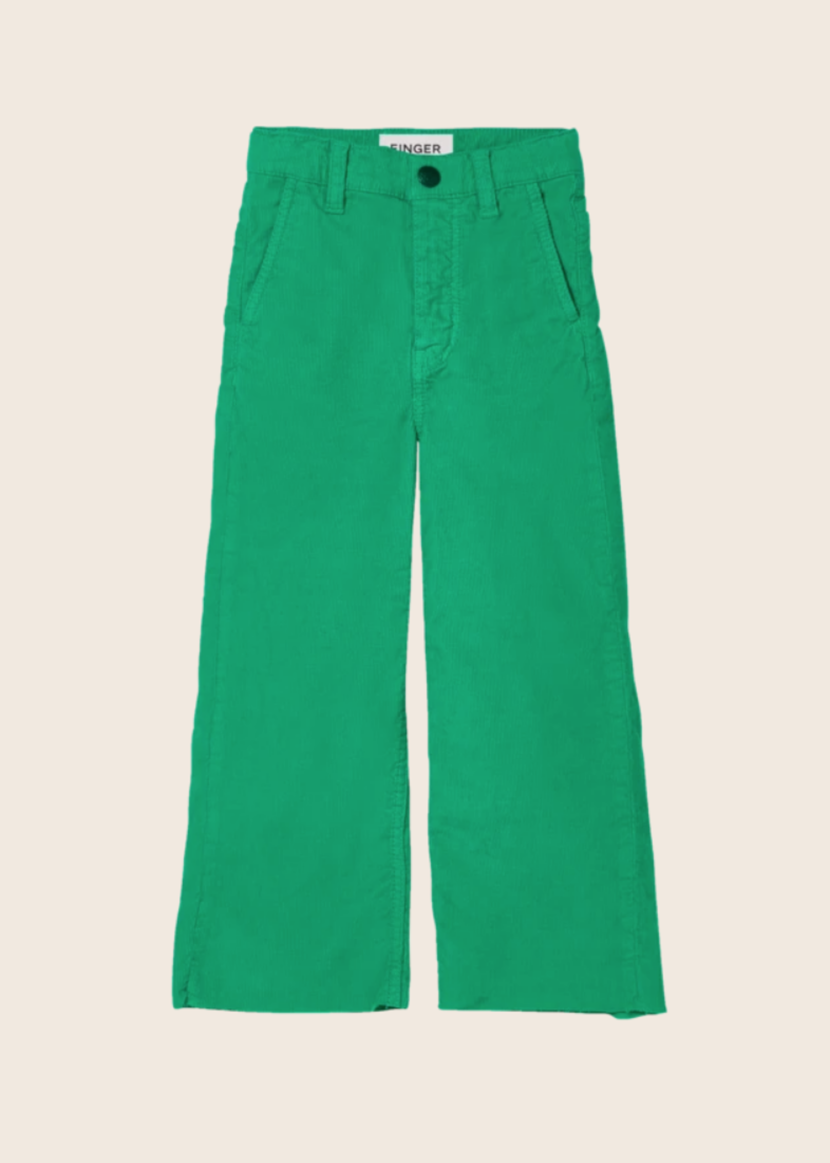 FINGER IN THE NOSE CHARLIE Green Cord - Loose Fit Cropped Jeans