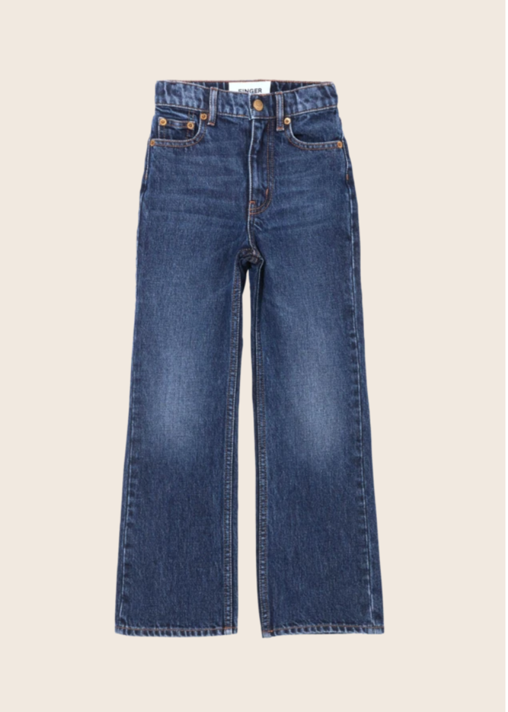 FINGER IN THE NOSE FIONA Medium Blue - Flare Fit Jeans