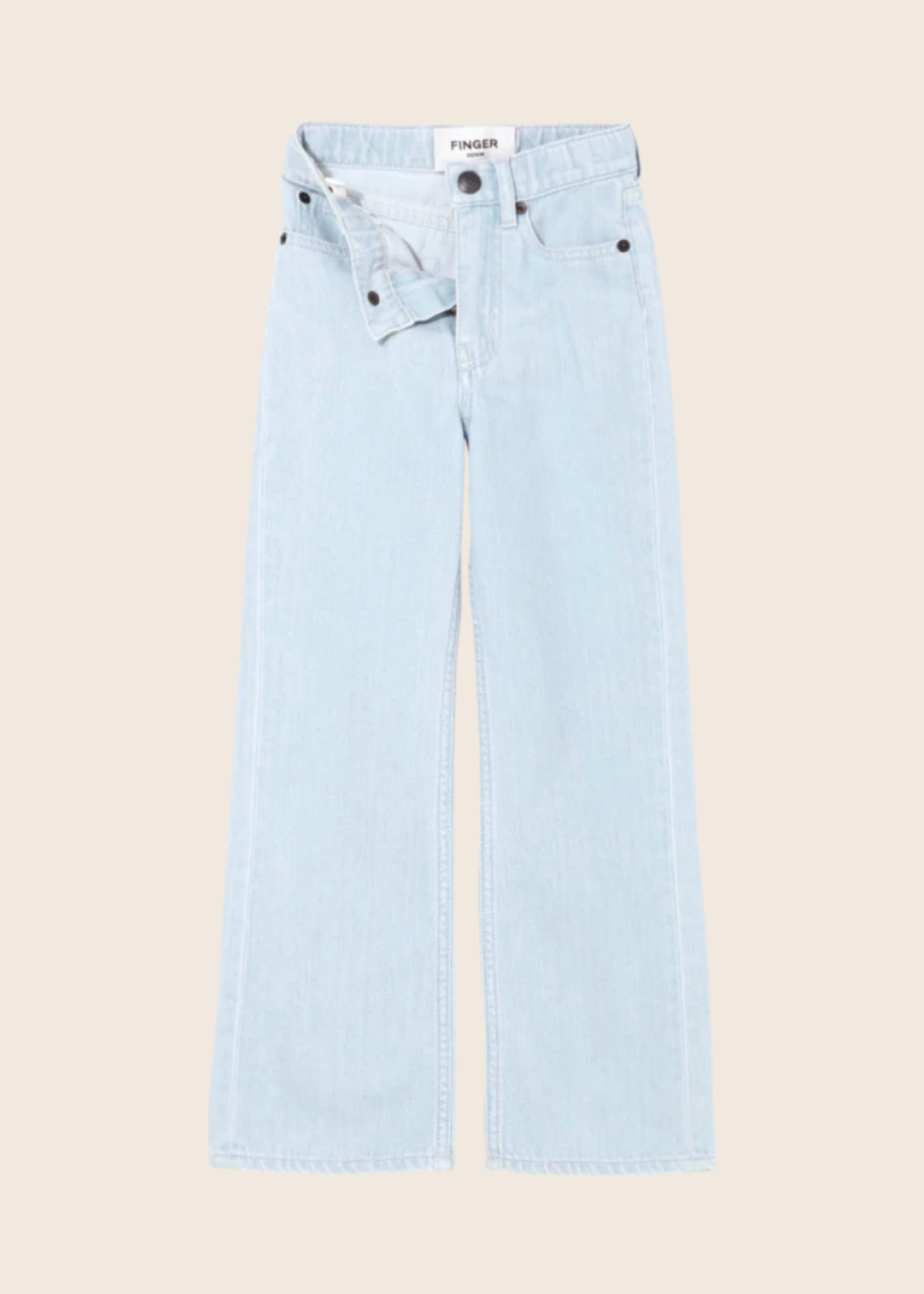 FINGER IN THE NOSE FIONA Bleached Blue - Flare Fit Jeans