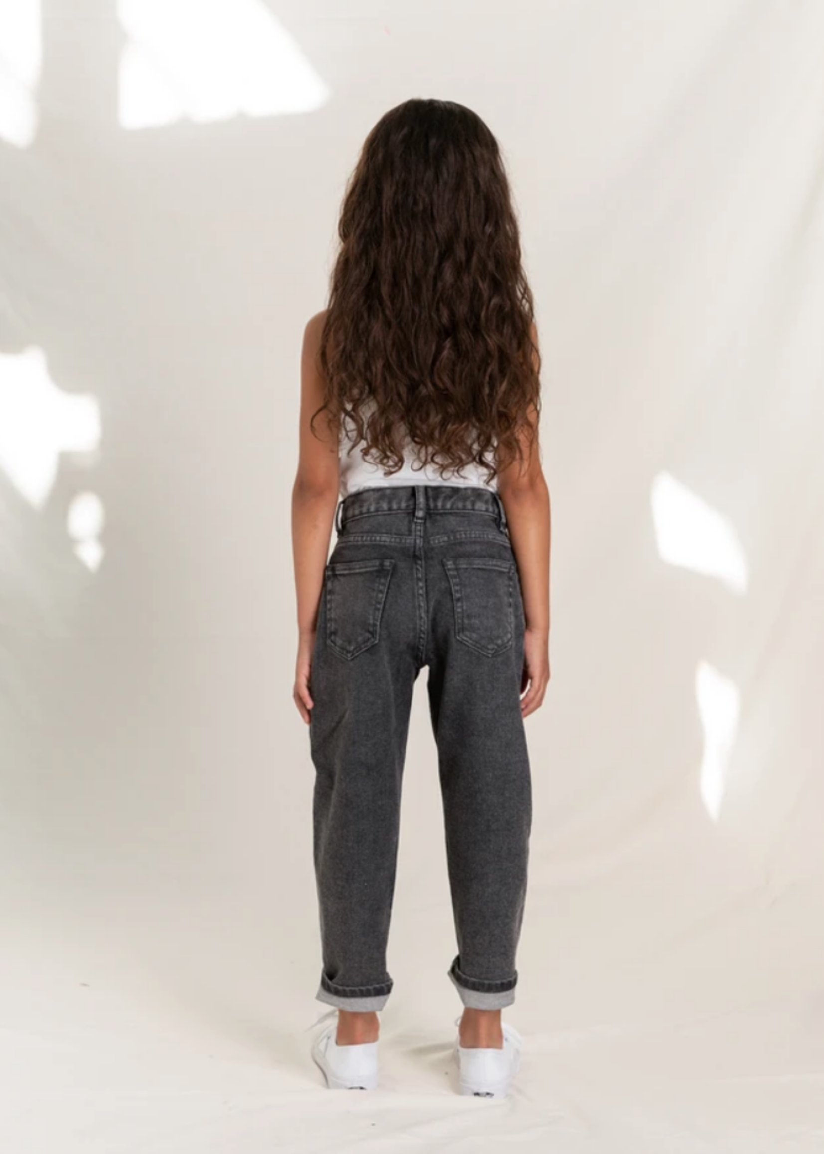 FINGER IN THE NOSE SOLANGE Black Snow - Slouchy Fit Jeans