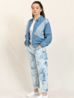 FINGER IN THE NOSE SOLANGE Bleached Blue Tie & Dye - Slouchy Fit Jeans