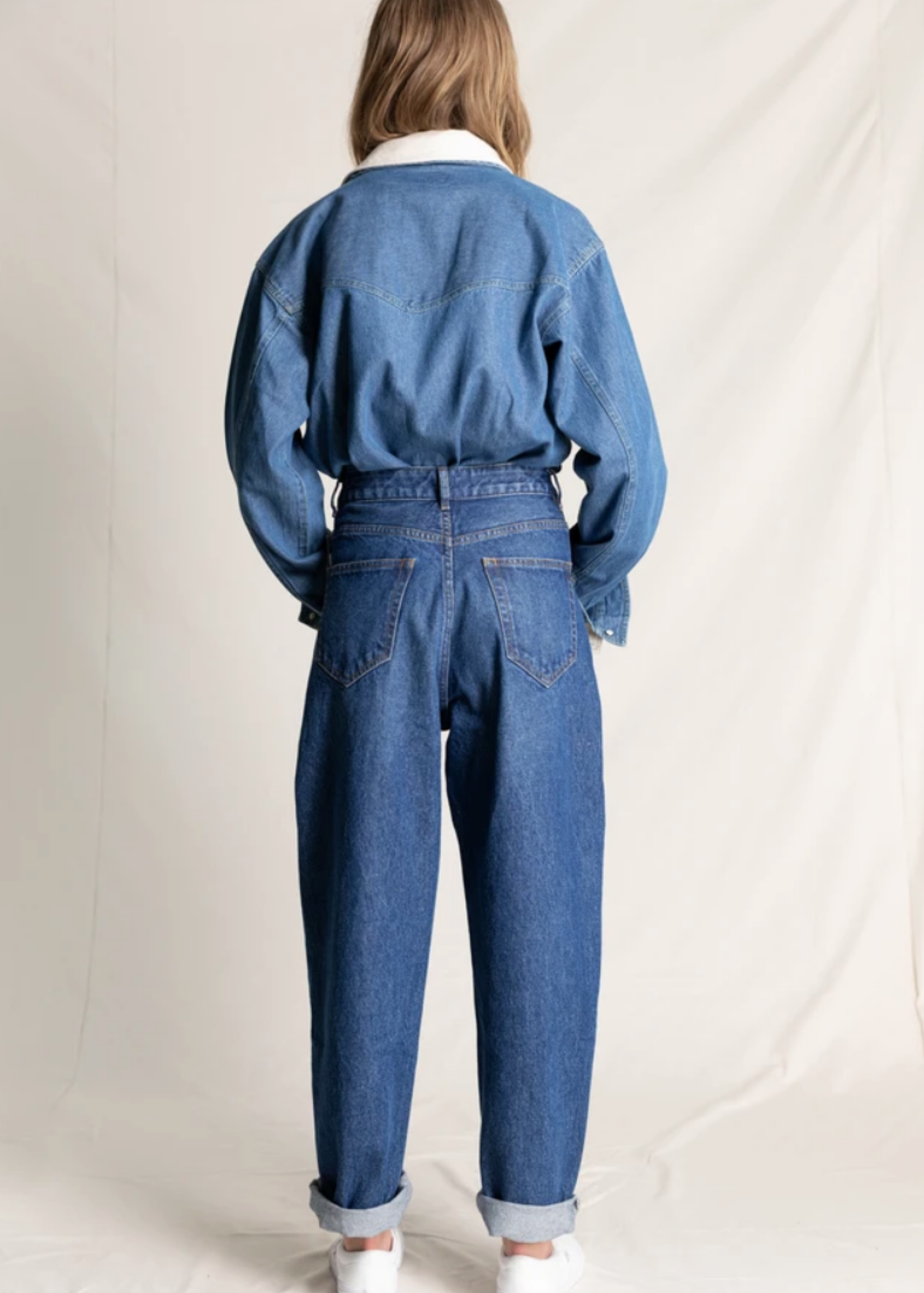 FINGER IN THE NOSE SOLANGE Medium Blue - Slouchy Fit Jeans