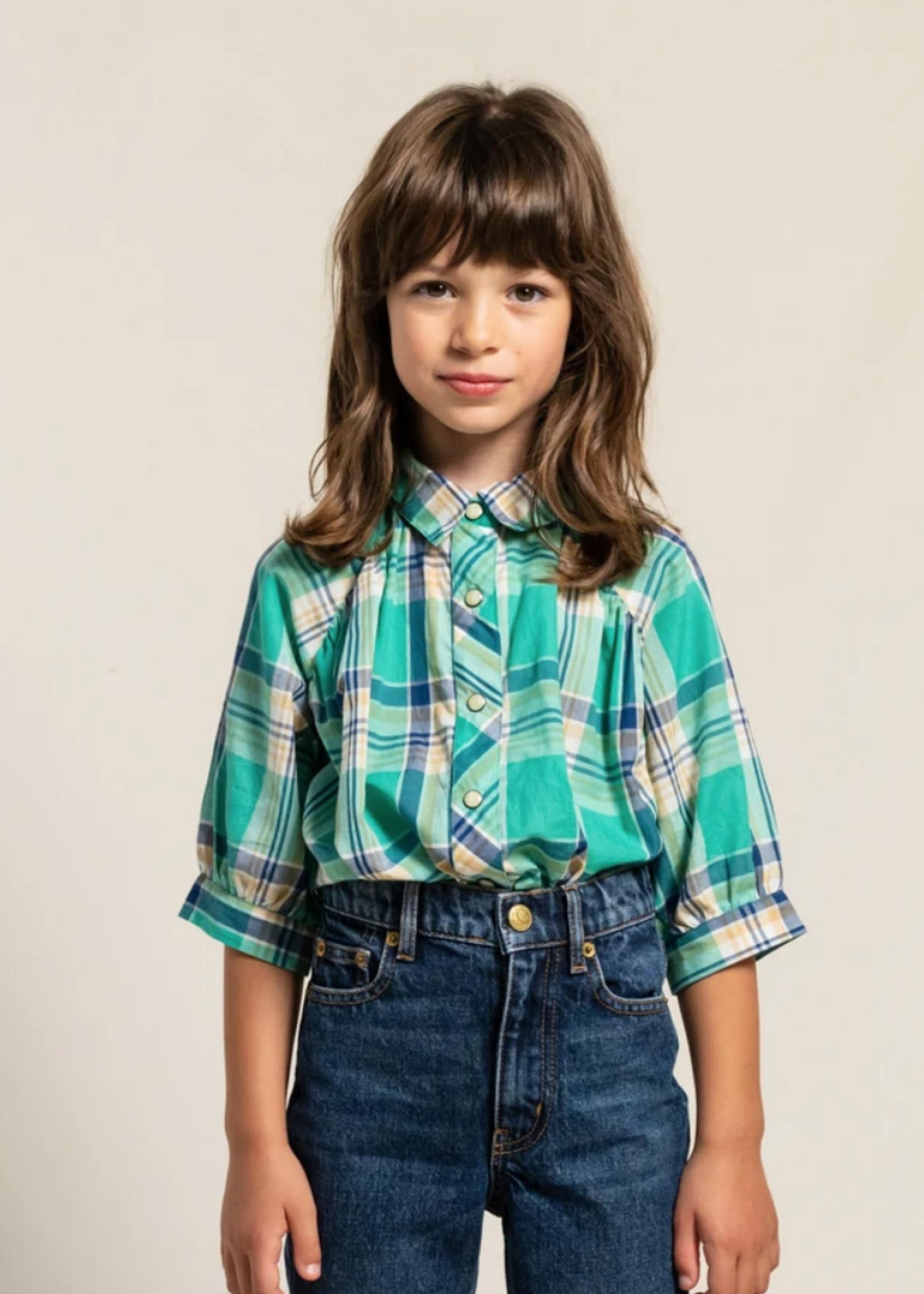 FINGER IN THE NOSE LAKESIDE Blue Checks - Short Sleeve Shirt