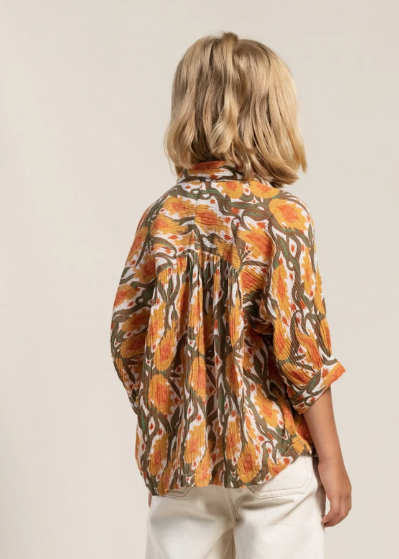 FINGER IN THE NOSE LAKESIDE Peach Iris - Short Sleeve Shirt
