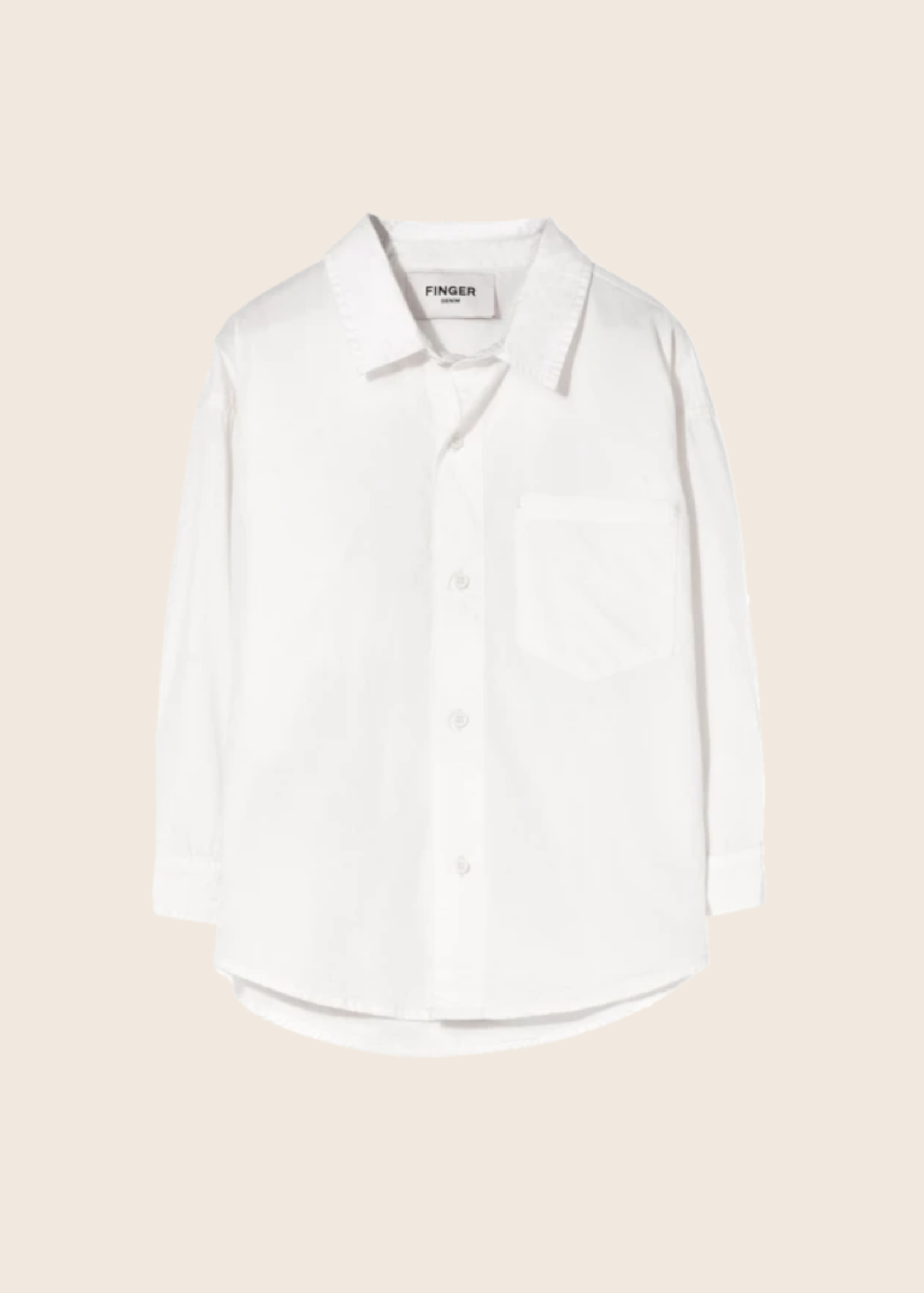 FINGER IN THE NOSE MYSTERY Off White - Chest Pocket Shirt