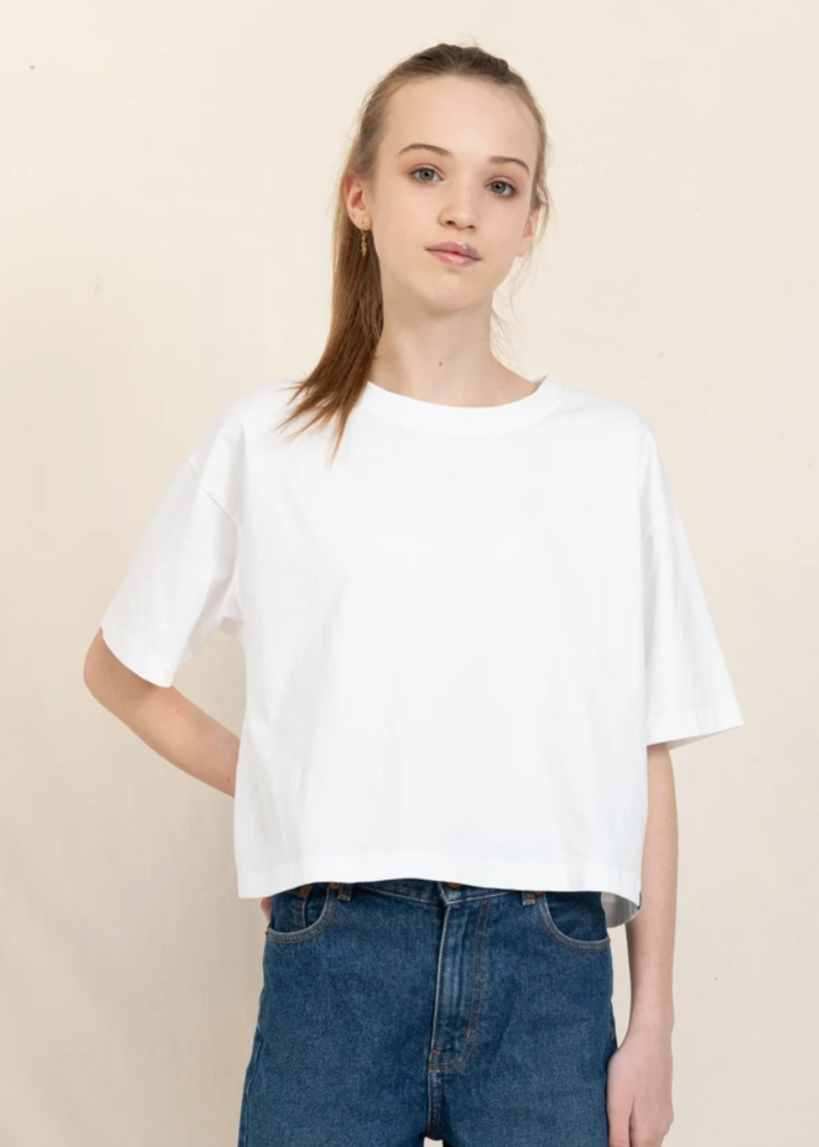 FINGER IN THE NOSE SC 002 White - Cropped T Shirt