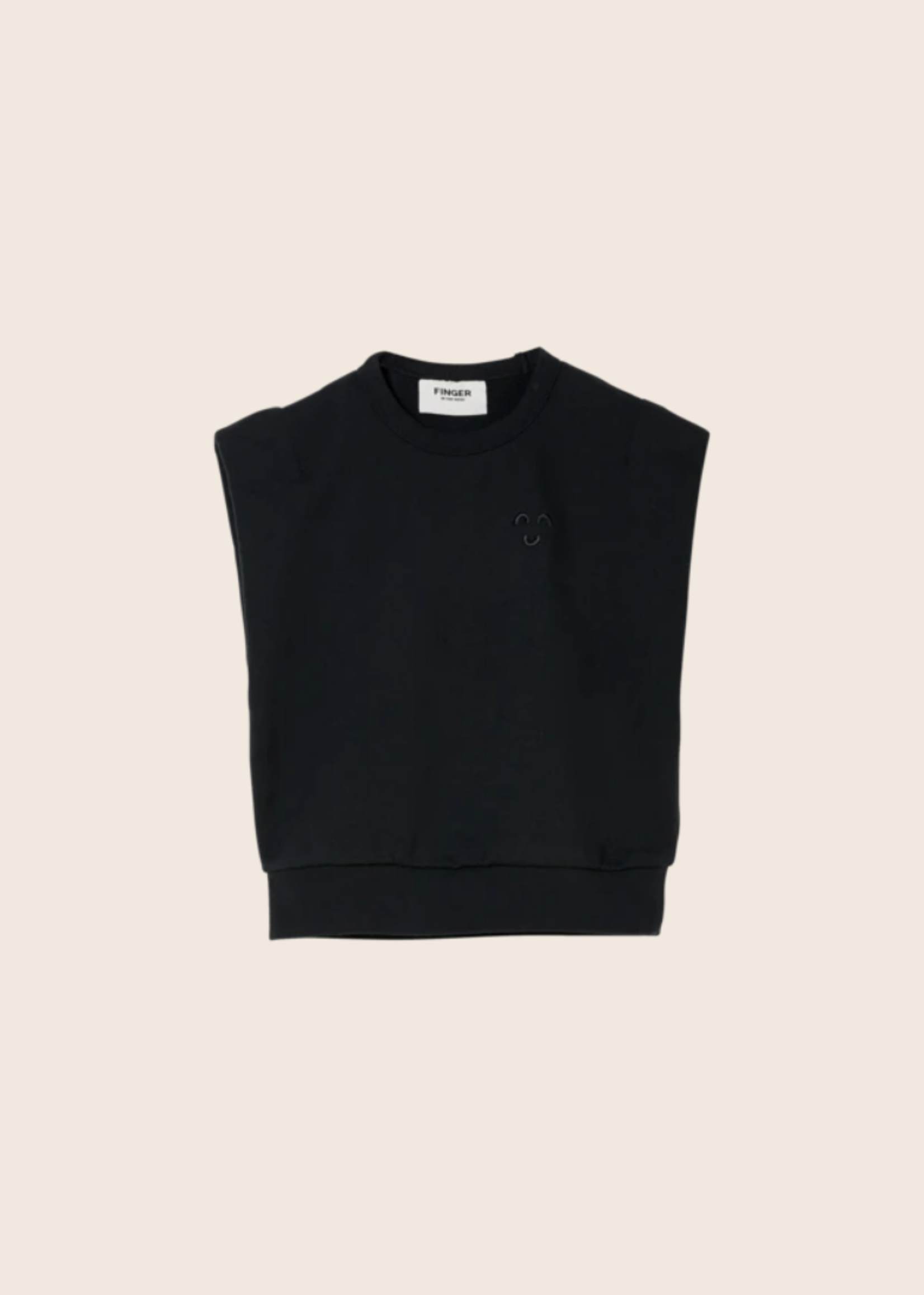 FINGER IN THE NOSE CAROL Ash Black - Sleeveless Sweater