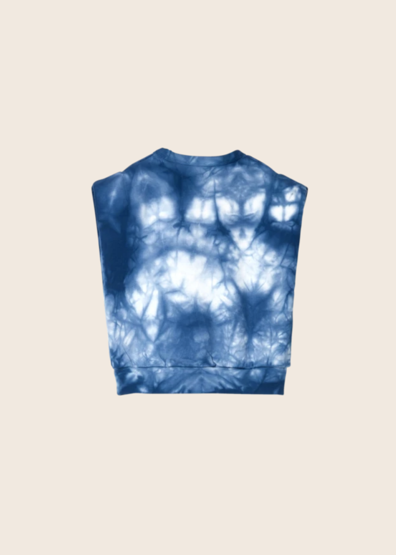FINGER IN THE NOSE CAROL Work Blue Tie & Dye - Sleeveless Sweater