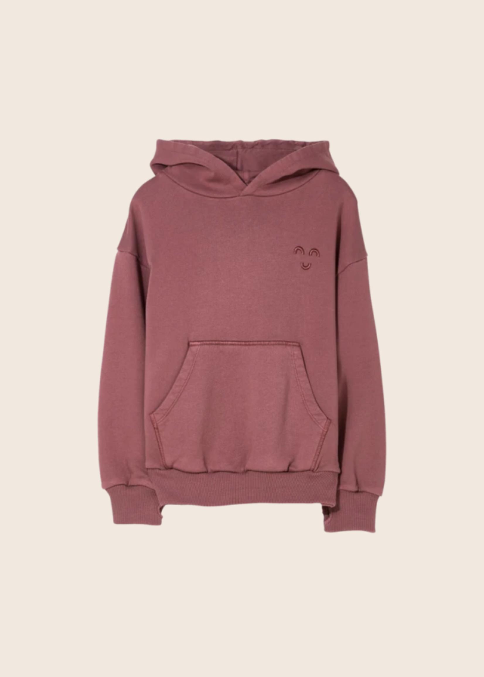 FINGER IN THE NOSE HORST Dark Plum - Hooded Sweater
