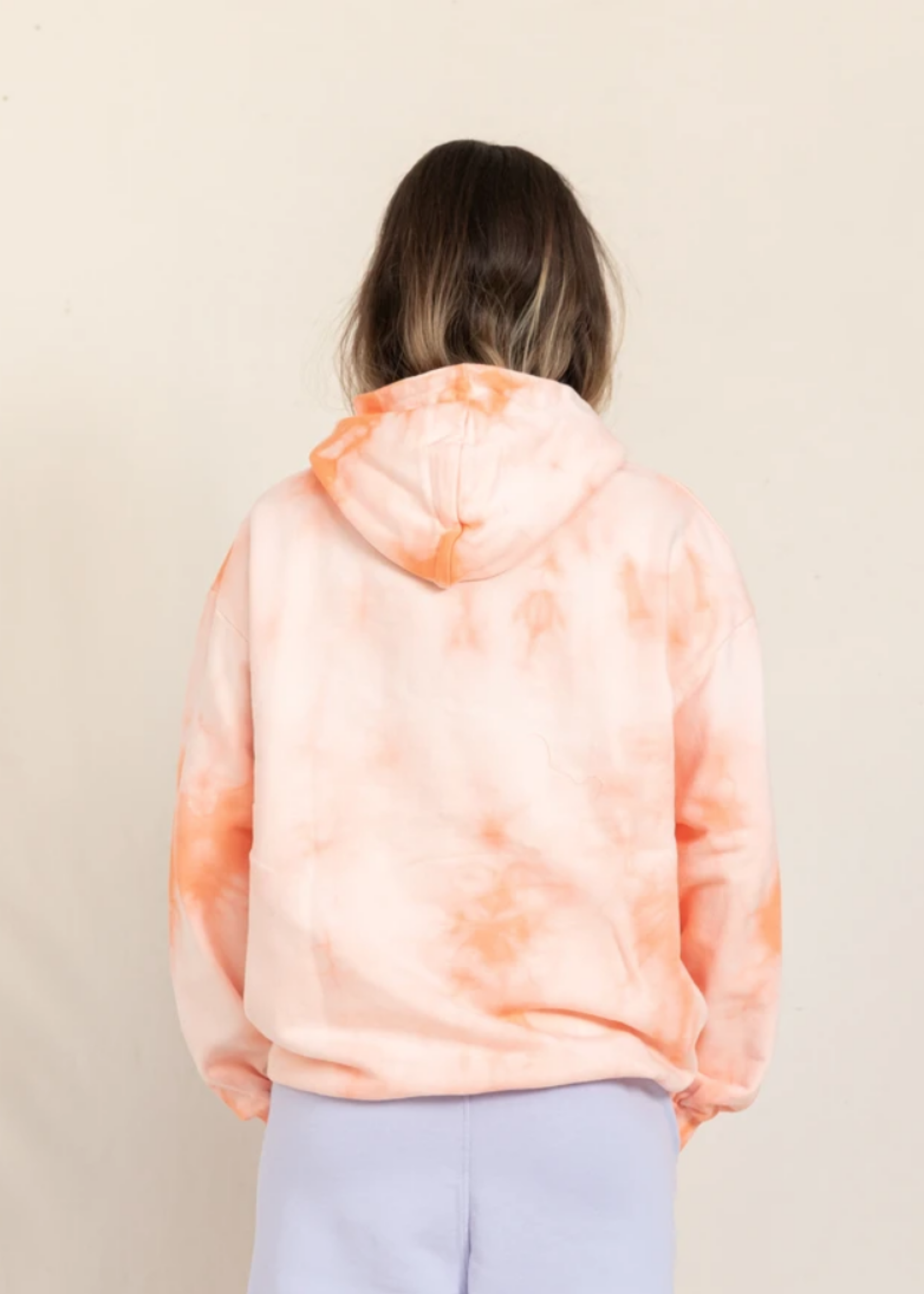 FINGER IN THE NOSE HORST Peach Tie & Dye - Hooded Sweater