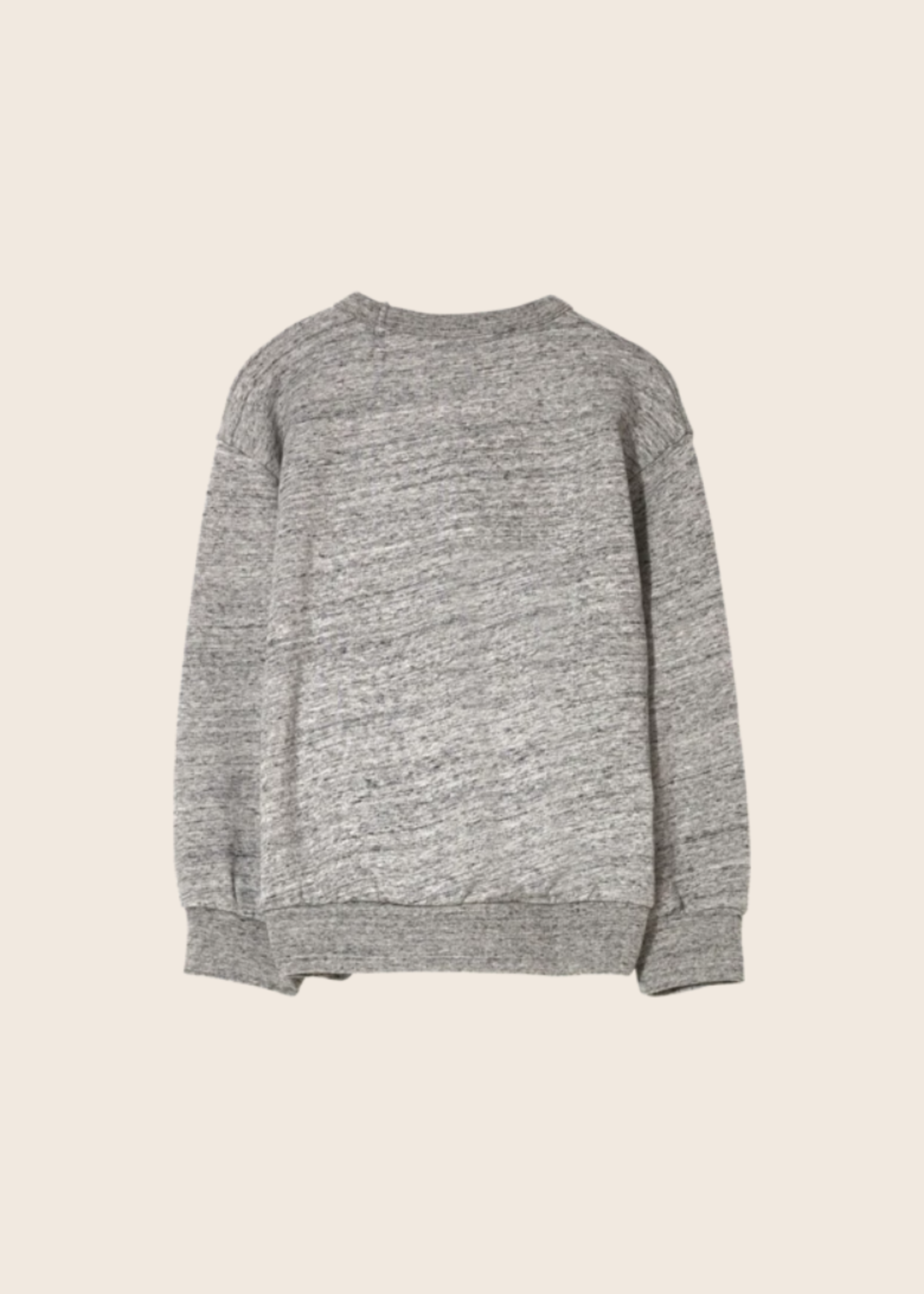 FINGER IN THE NOSE WIND Heather Grey Macaroni - Loose Sweater