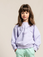 FINGER IN THE NOSE WIND Milky Lavender Macaroni - Loose Sweater