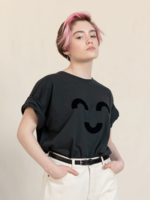 FINGER IN THE NOSE KING Ash Black Macaroni - Short Sleeves T Shirt Boy / Knitted