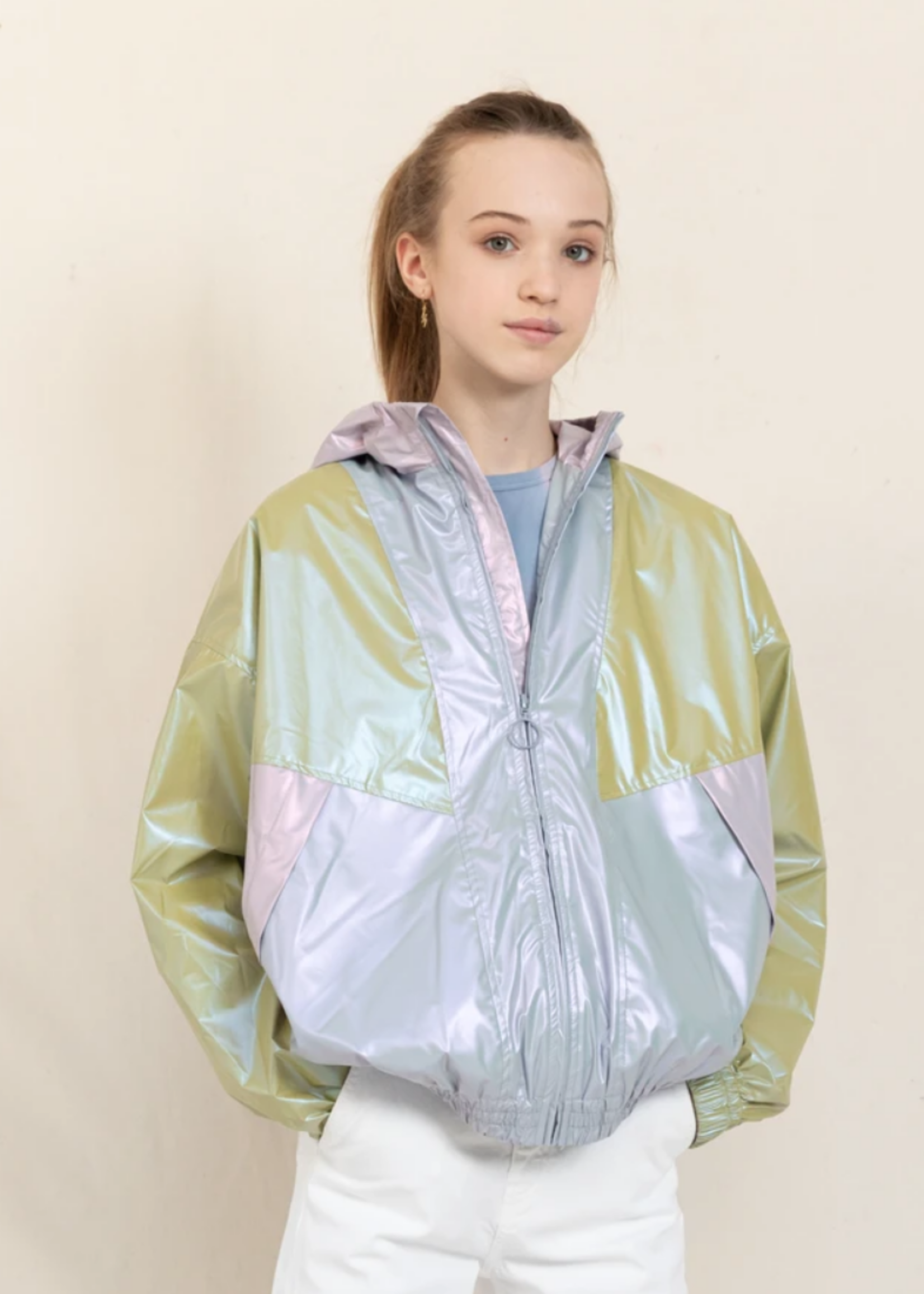FINGER IN THE NOSE MIGHTY 2 Milky Mint Colorblock - Tracksuit Jacket