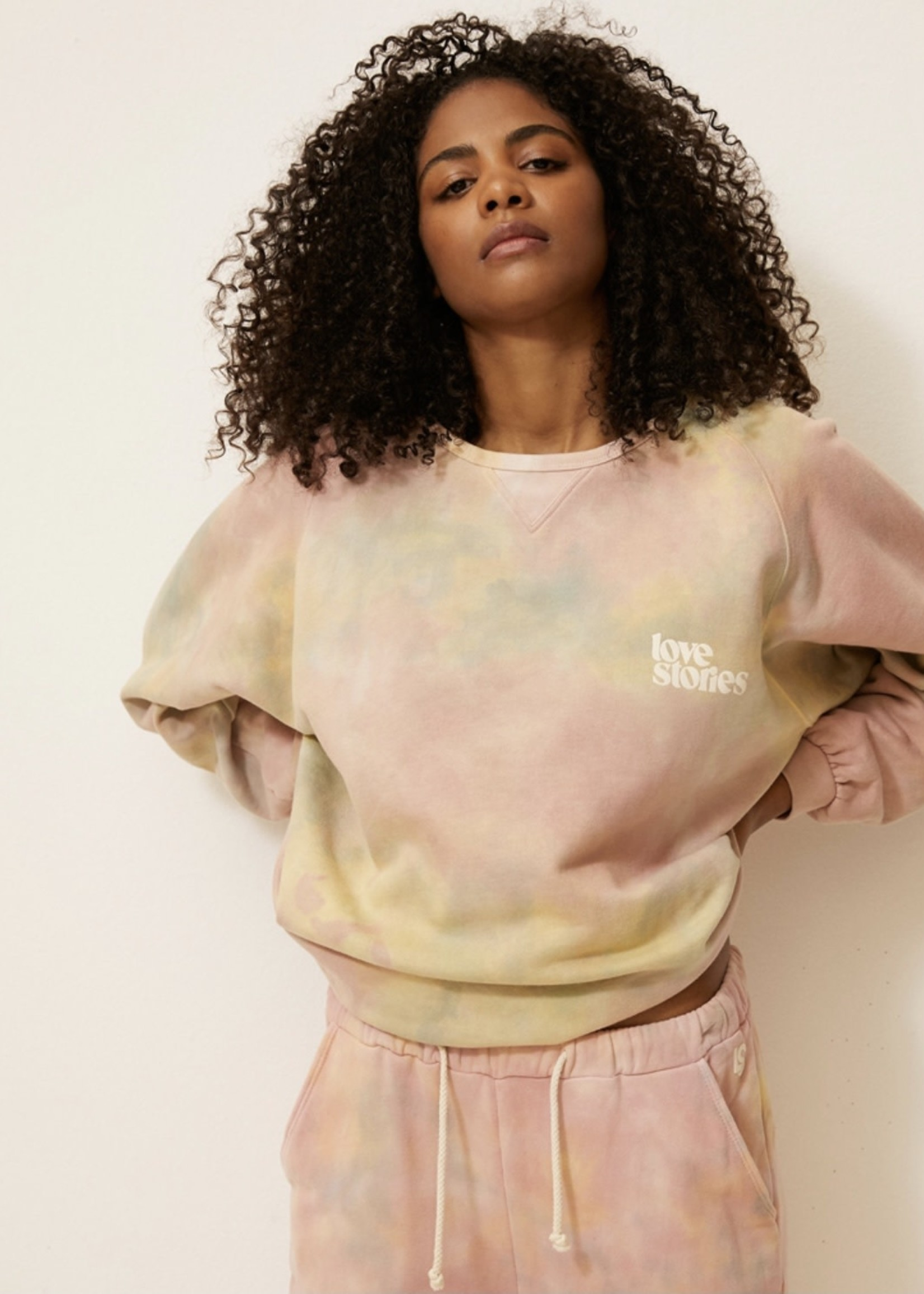 LOVE STORIES SWEATER COVER UP TOP SKYE