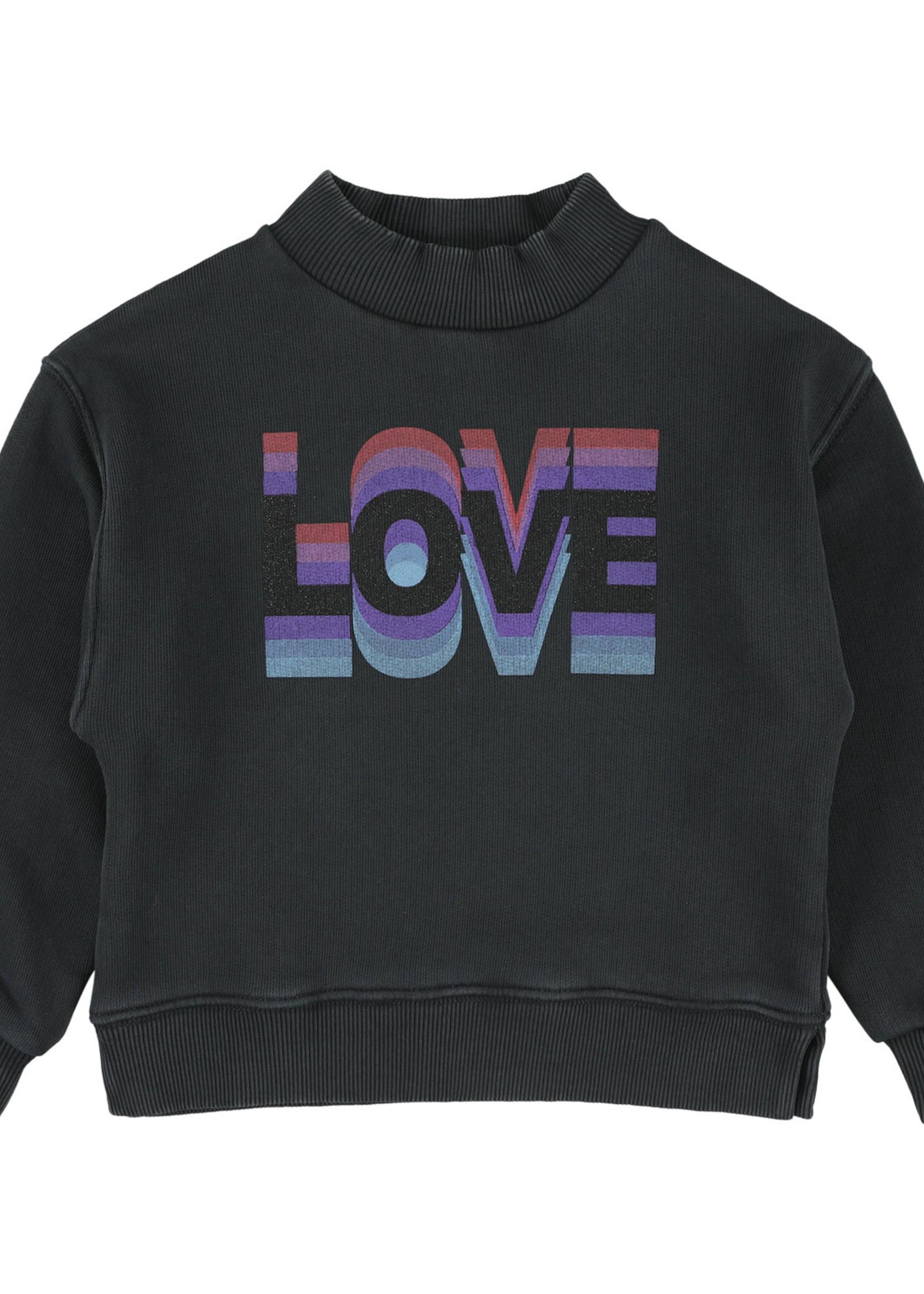 SIMPLE KIDS SK SWEAT LOVE SWEAT COAL