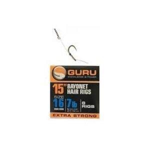 """Guru 15"""" bayonet hair rigs"""