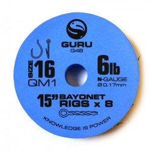 """Guru 15"""" QM1 bayonet rigs"""