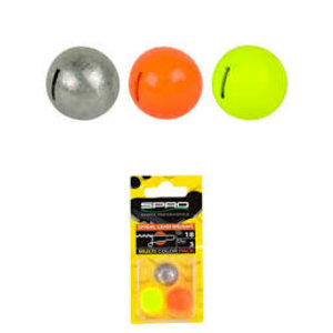 Spro Spiral lead weight multi color pack