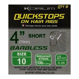 Korum Barbless quickstops on hair rigs