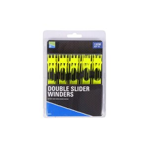 Preston Innovations Double slider winders 13cm Yellow