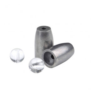 Spro Stainless steel bullet sinkers + glass beads