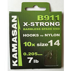 Kamasan B911X  x-strong barbless spade ends