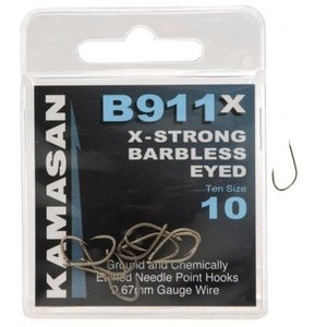 Kamasan B911X x-strong barbless eyed