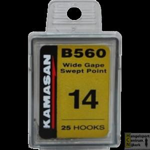 Kamasan B560 wide gape swept point