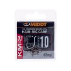 Middy KM-2 hair-rig carp eyed hooks