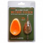 Drennan Inline flat method feeder with easy release bait mould
