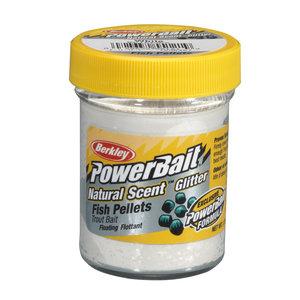 Berkley Powerbait natural scent white glitter fishmeal pellets