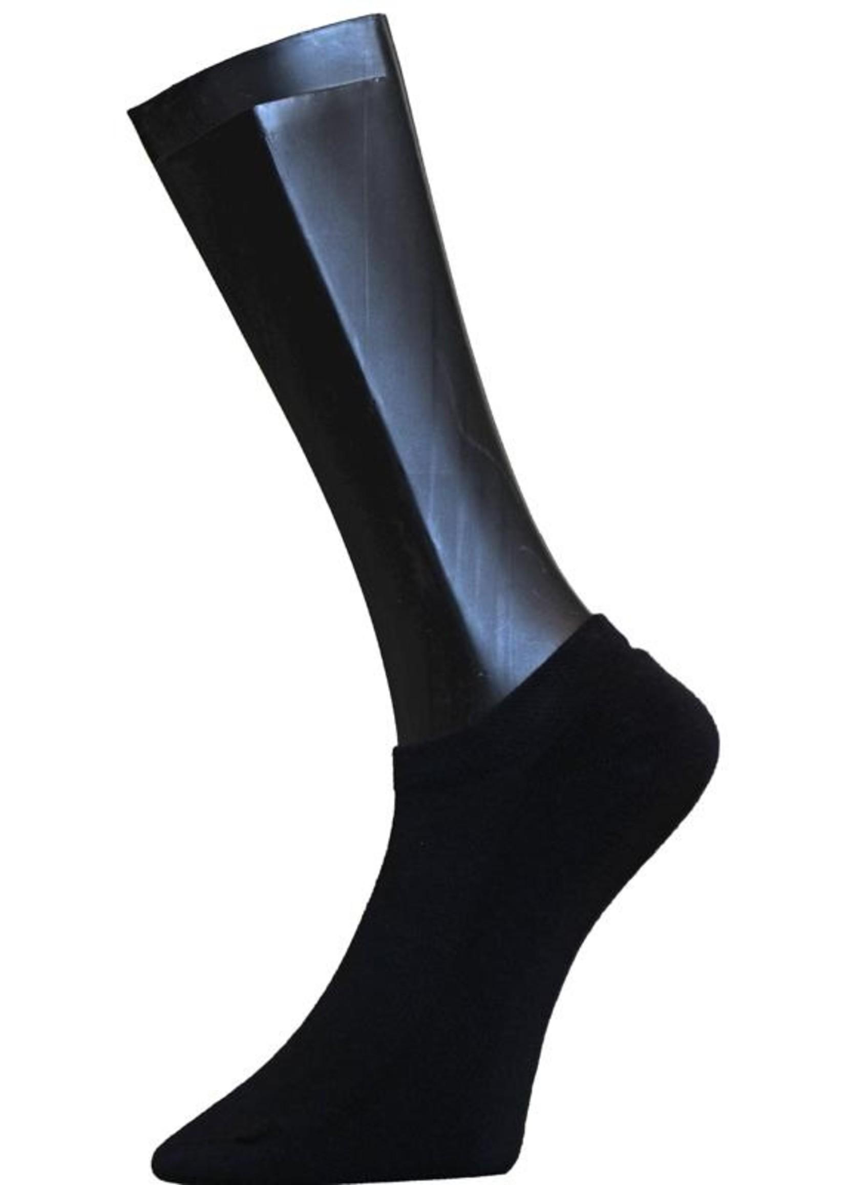 Sneaker badstofzool - Zwart (2 paar)