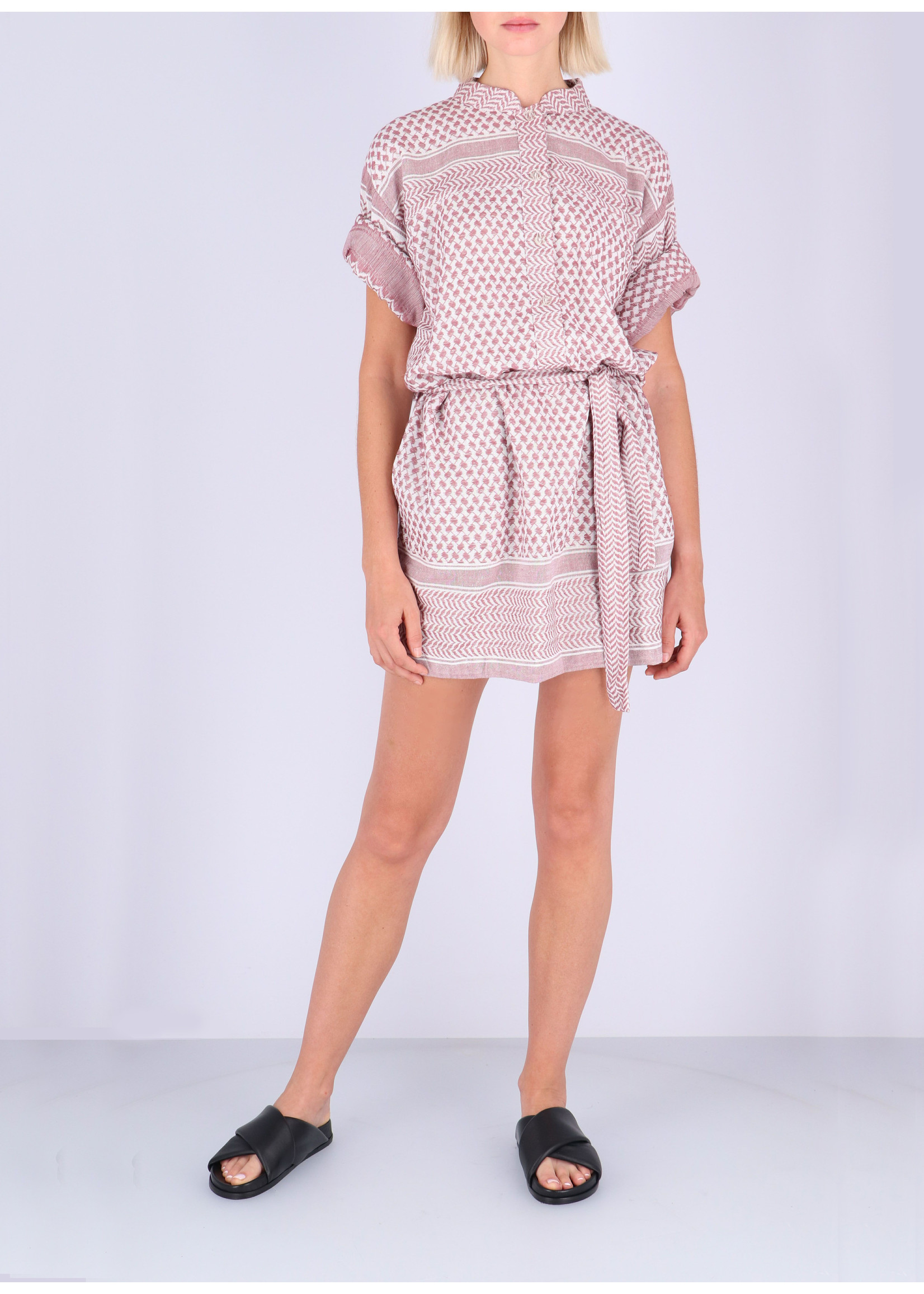 Rough Studios Leila K. Dress pink/white