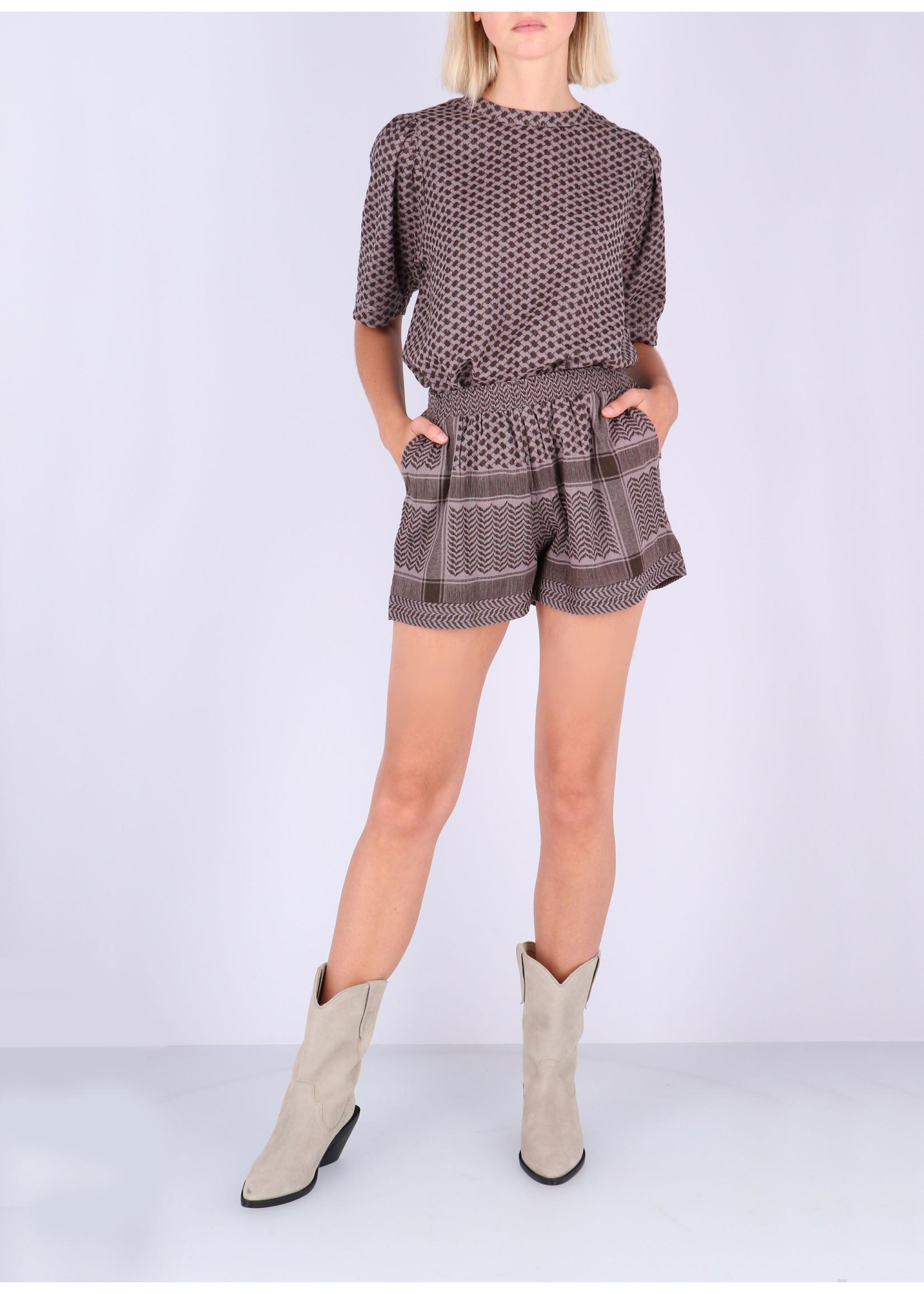 Rough Studios Simone shirt brown/lilac