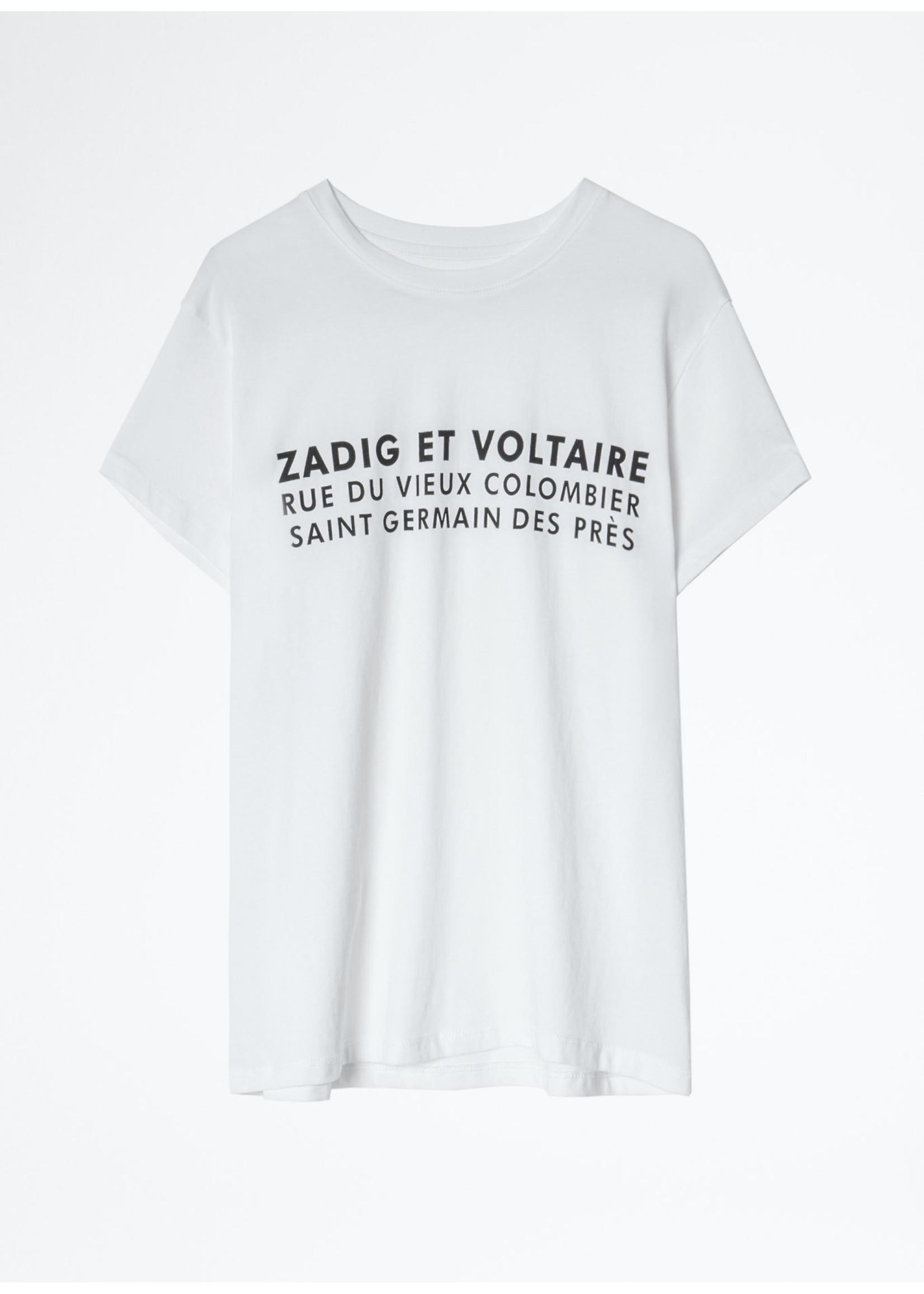 Zadig & Voltaire Zoe zv address white