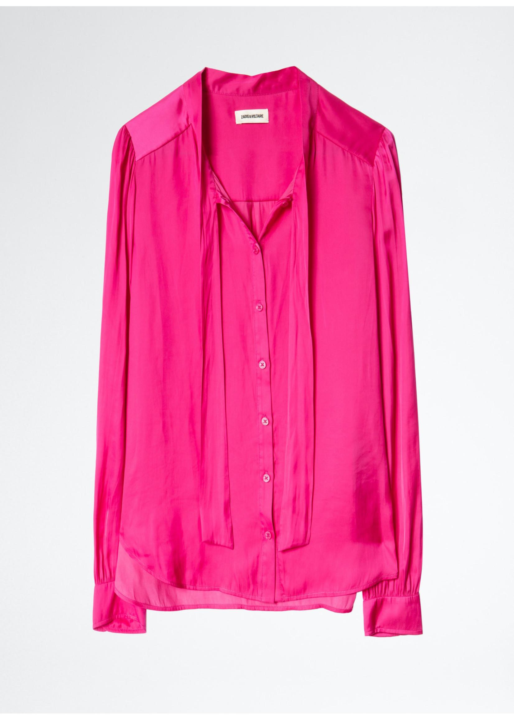 Zadig & Voltaire Taos satin pink