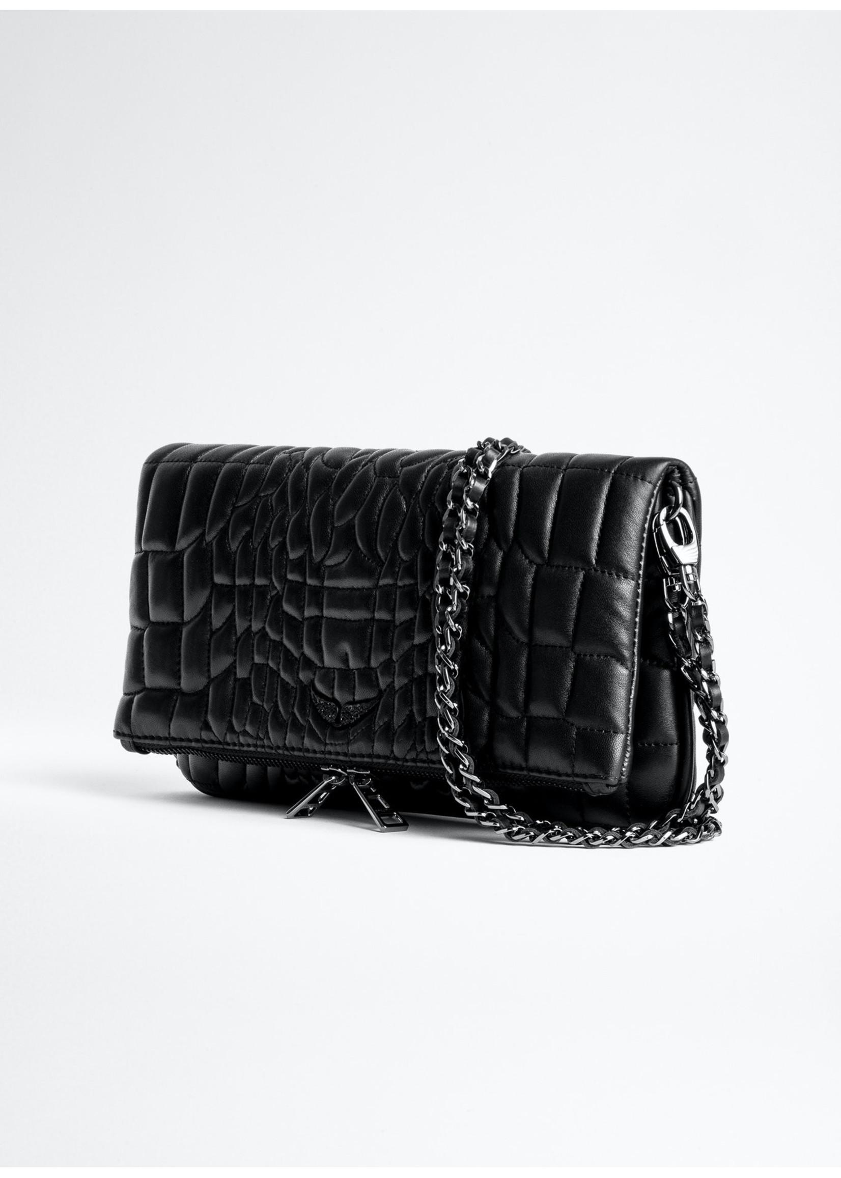 Zadig & Voltaire Rock croco quil black
