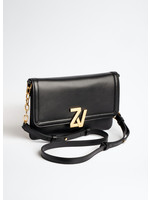 Zadig & Voltaire Initiale Clutch Black Gold