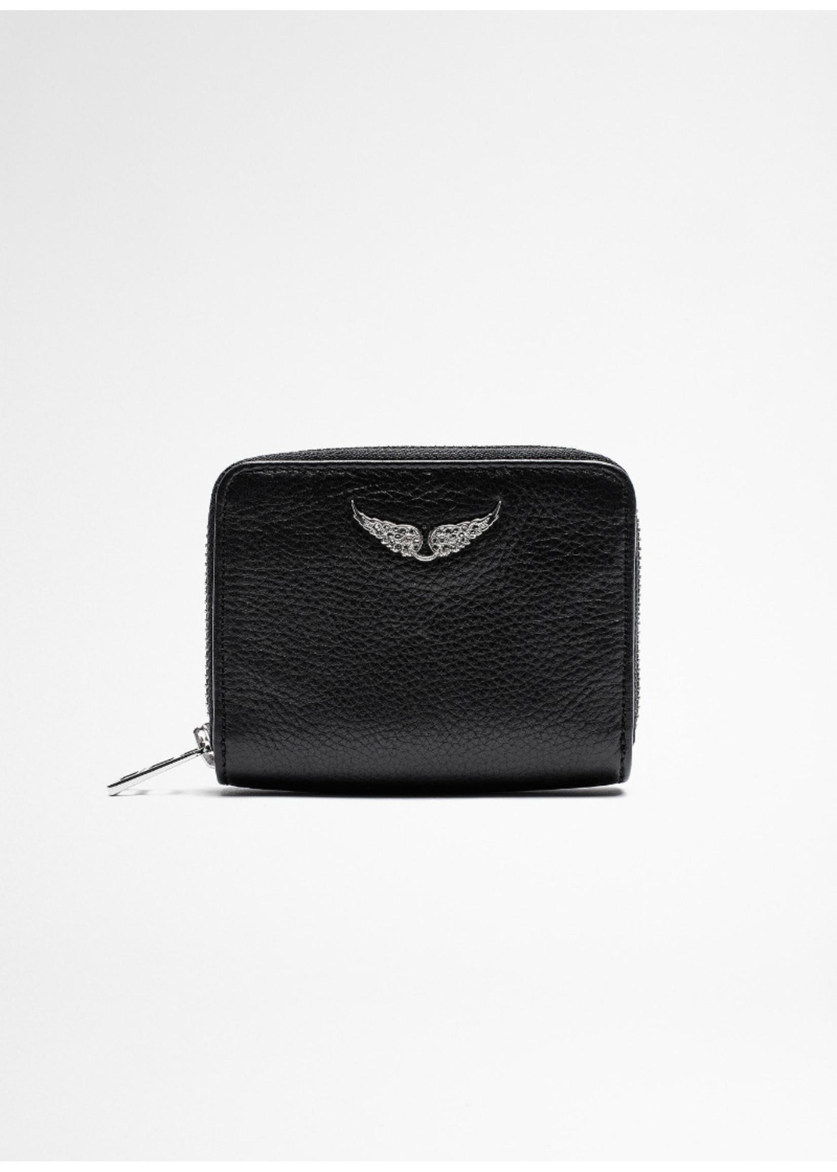 Zadig & Voltaire Mini leather wallet black