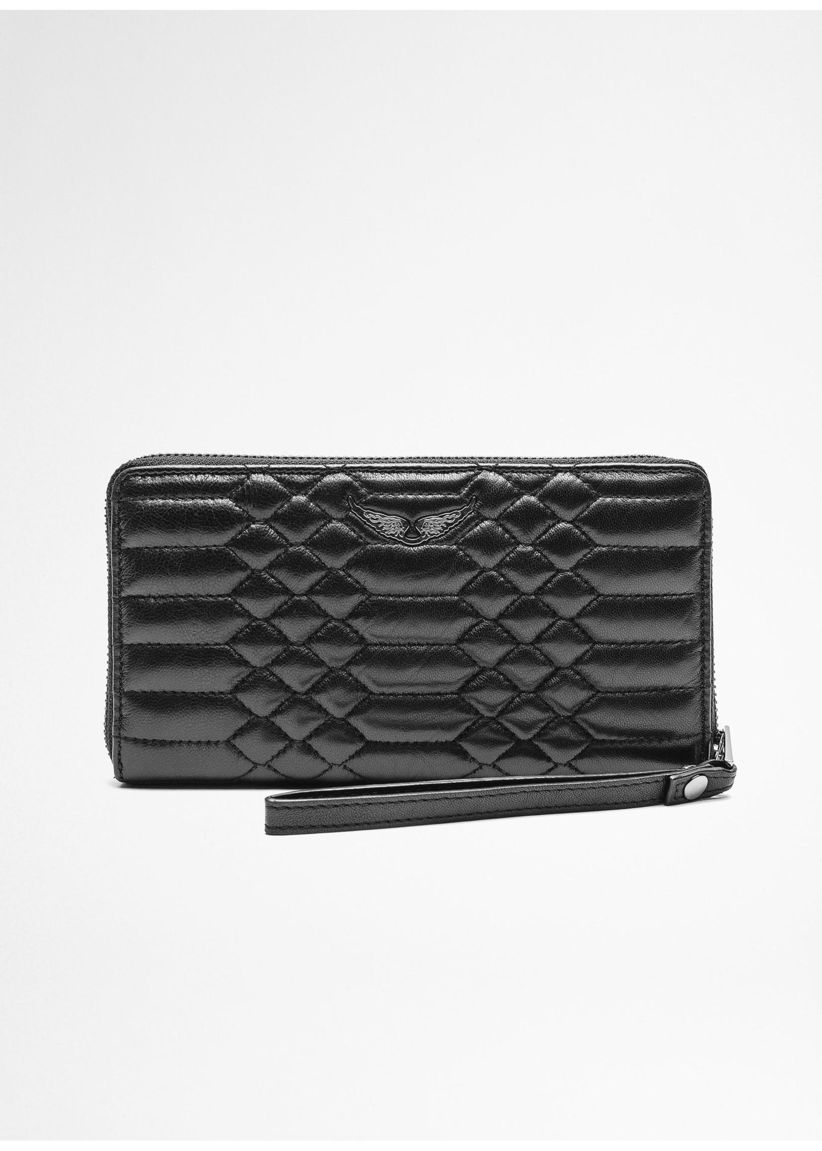 Zadig & Voltaire Compagnon matelasse wallet black