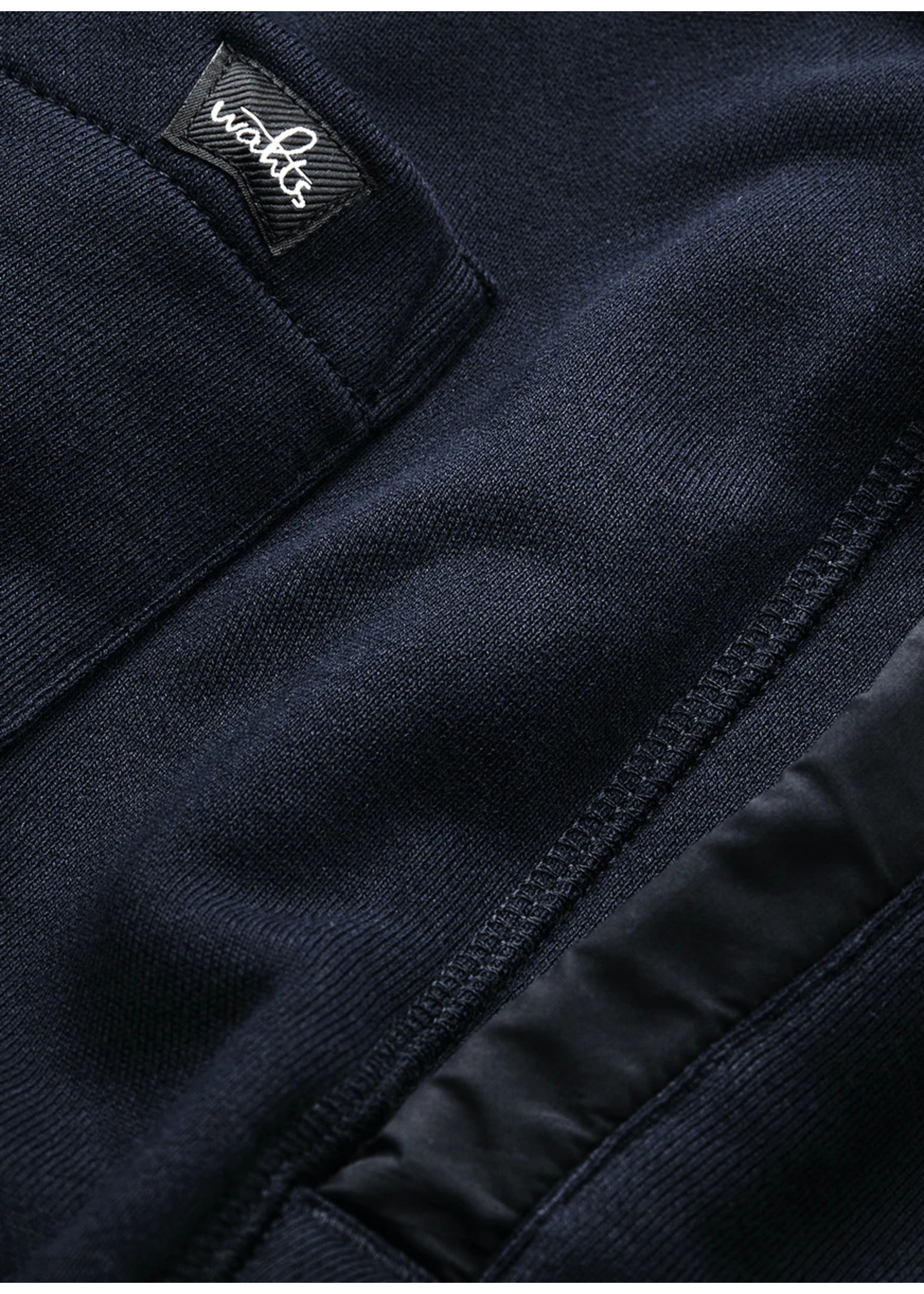 Wahts Troy sweatshorts with band navy blue