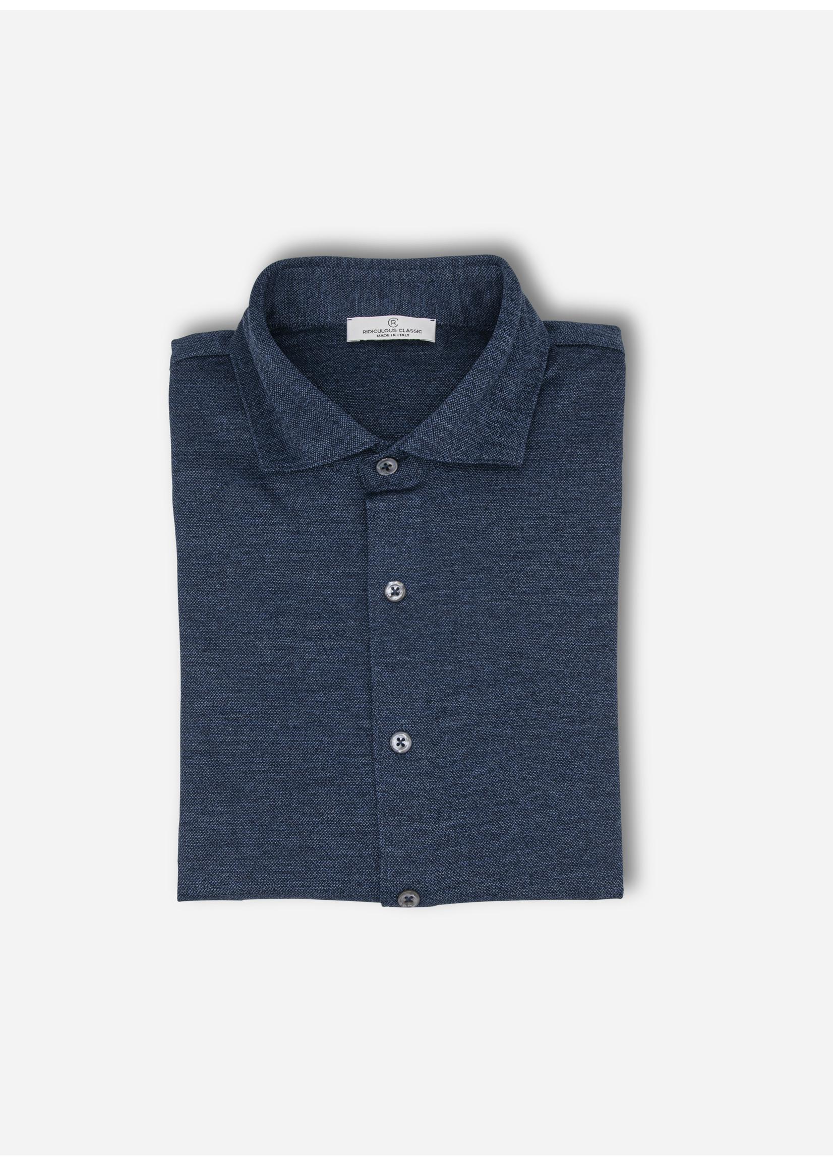 Ridiculous Classic Shirt jeans blue pique