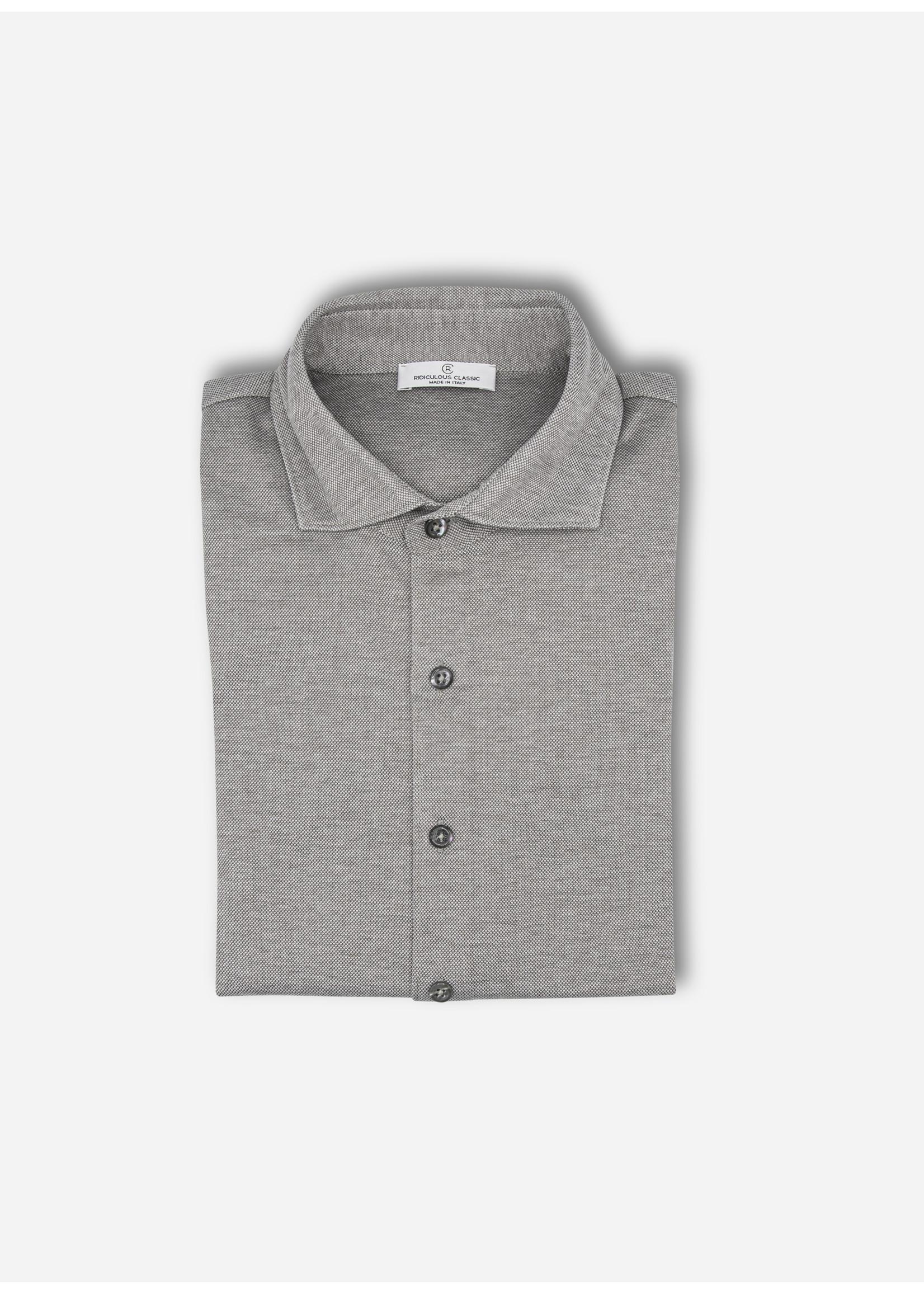 Ridiculous Classic Shirt taupe melange pique