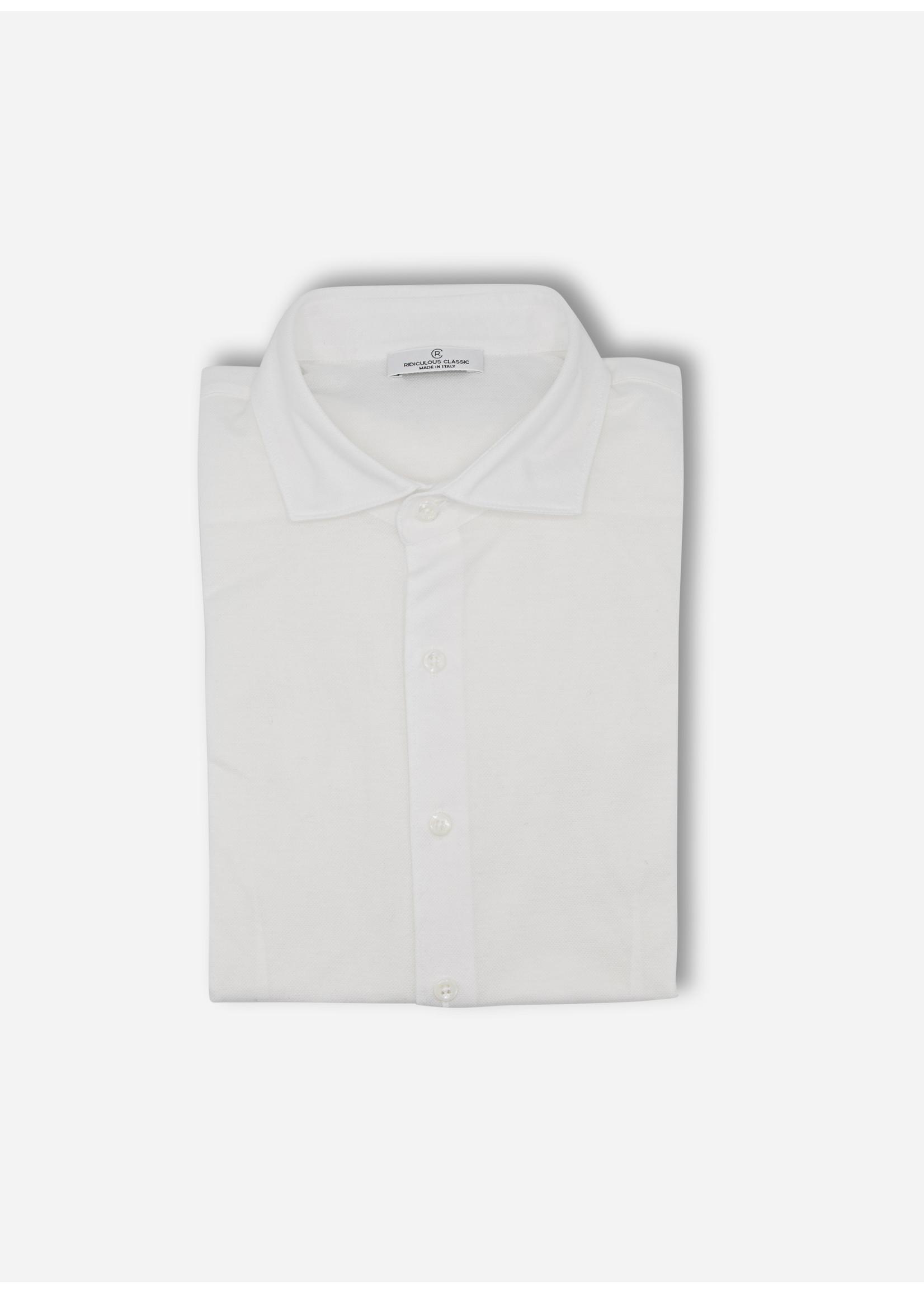 Ridiculous Classic Shirt white pique